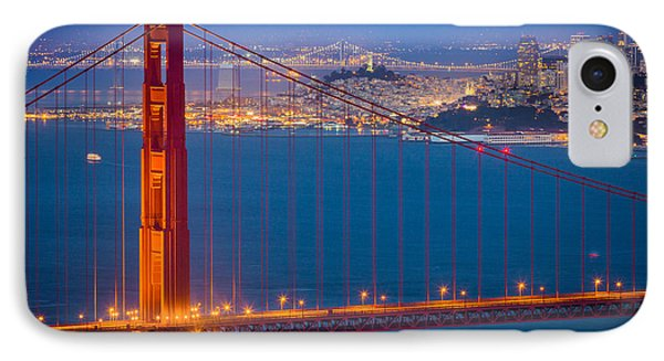 Golden Gate And San Francisco IPhone Case by Inge Johnsson