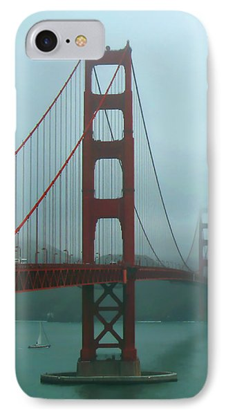 Golden Gate Bridge And Partial Arch In Color  IPhone Case by Connie Fox