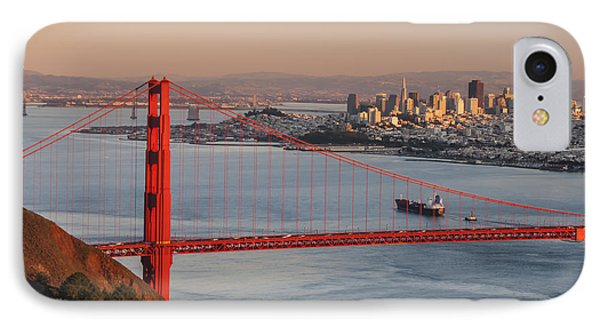 IPhone Case featuring the photograph Golden Gate Bridge And San Francisco 1 by Lee Kirchhevel