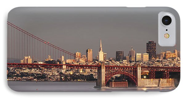 IPhone Case featuring the photograph Golden Gate Bridge And San Francisco Panoramic by Lee Kirchhevel