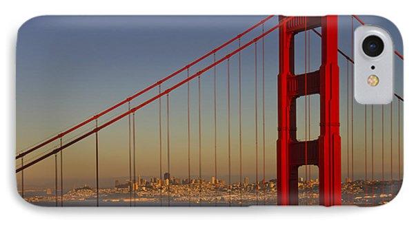 Golden Gate Bridge At Sunset IPhone Case by Melanie Viola
