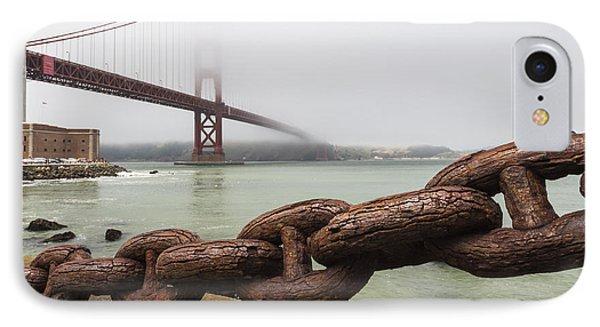 Golden Gate Bridge Chain IPhone Case by Adam Romanowicz