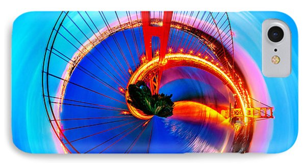 Golden Gate Bridge Circagraph IPhone Case by Az Jackson