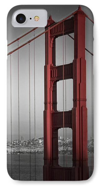 Golden Gate Bridge - Downtown View IPhone Case by Melanie Viola