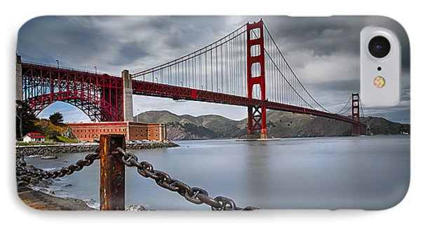 Golden Gate Bridge IPhone Case by Eduard Moldoveanu