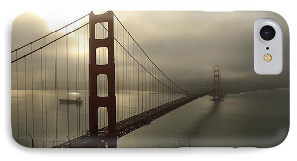 IPhone Case featuring the photograph Golden Gate Bridge Fog Lifting by Scott Rackers