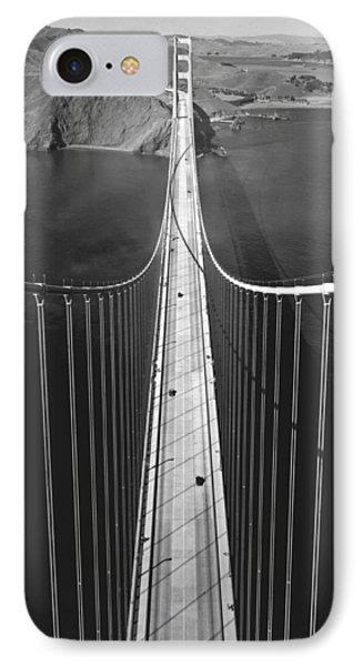 Golden Gate Bridge In 1937 IPhone Case by Underwood Archives