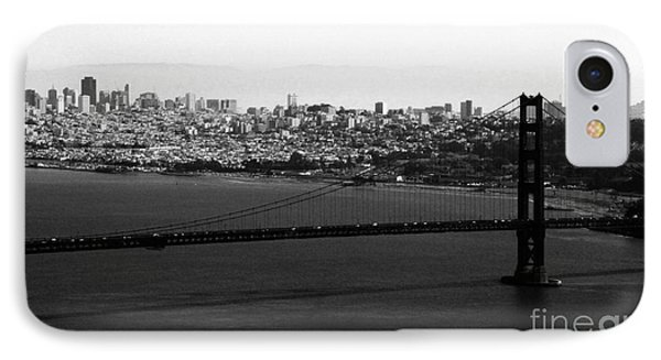 Golden Gate Bridge In Black And White IPhone Case by Linda Woods