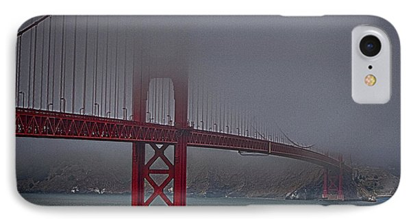 IPhone Case featuring the photograph Golden Gate Bridge In Fog ... by Chuck Caramella