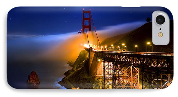 Golden Gate Bridge Moon Fog Mystery IPhone Case by Wernher Krutein