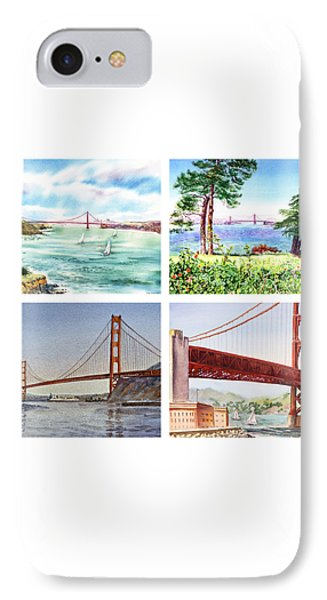 Golden Gate Bridge San Francisco California Phone Case by Irina Sztukowski