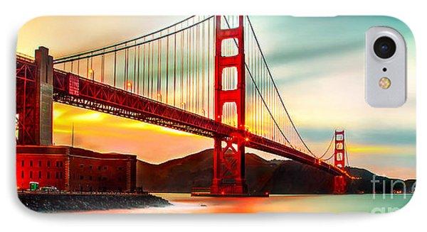 Golden Gate Sunset IPhone Case by Az Jackson