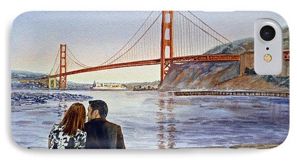 Golden Gate Bridge San Francisco - Two Love Birds IPhone 7 Case
