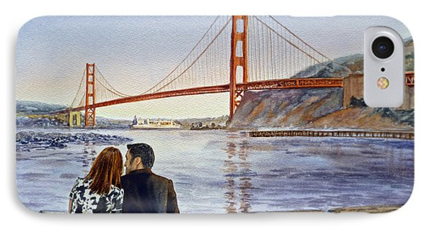 Golden Gate Bridge San Francisco - Two Love Birds IPhone Case by Irina Sztukowski