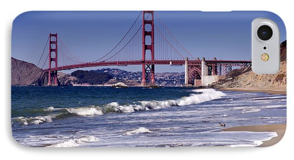 Golden Gate Bridge - Seen From Baker Beach Phone Case by Melanie Viola