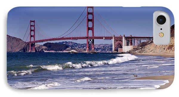 Golden Gate Bridge - Seen From Baker Beach IPhone Case by Melanie Viola