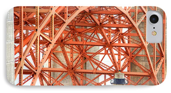 Golden Gate Bridge Supports IPhone Case by Deborah Smolinske