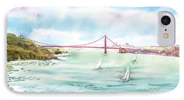 Golden Gate Bridge View From Point Bonita IPhone Case by Irina Sztukowski
