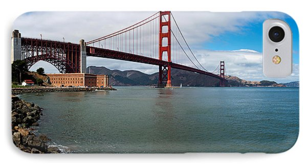 Golden Gate Bridge Viewed From Marine IPhone Case by Panoramic Images