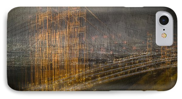 Golden Gate Chaos IPhone Case by Linda Villers