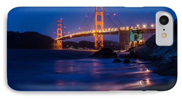 Golden Gate Glow IPhone Case by Linda Villers