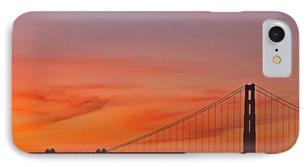 IPhone Case featuring the photograph Golden Gate Sunset by Kate Brown