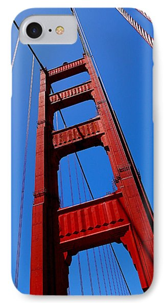 Golden Gate Tower Phone Case by Rona Black