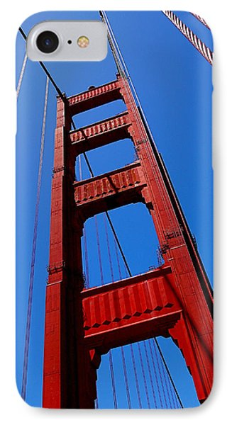 Golden Gate Tower IPhone Case by Rona Black