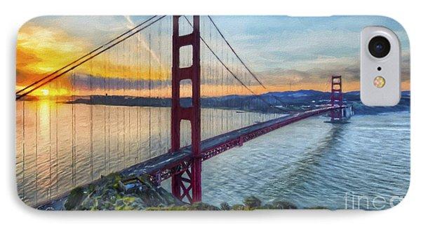 Golden Gate IPhone Case by Veikko Suikkanen