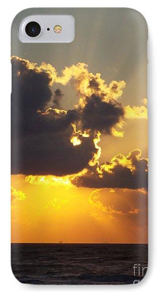 Golden Glow 2 IPhone Case by Audrey Van Tassell