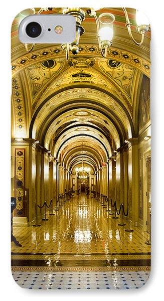 Golden Government IPhone Case by Greg Fortier