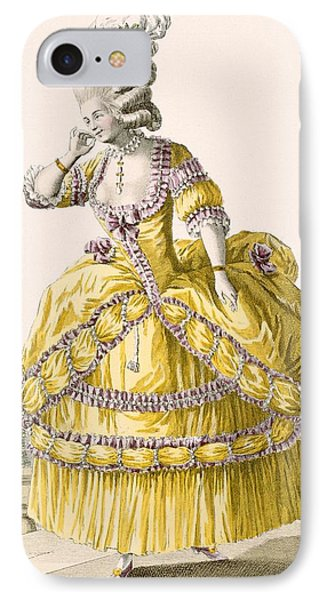Golden Gown, Engraved By Dupin, Plate IPhone Case by Pierre Thomas Le Clerc
