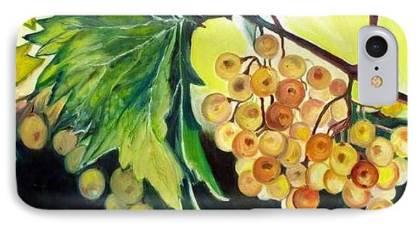 IPhone Case featuring the painting Golden Grapes by Julie Brugh Riffey