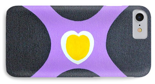 Golden Heart IPhone Case by Lorna Maza