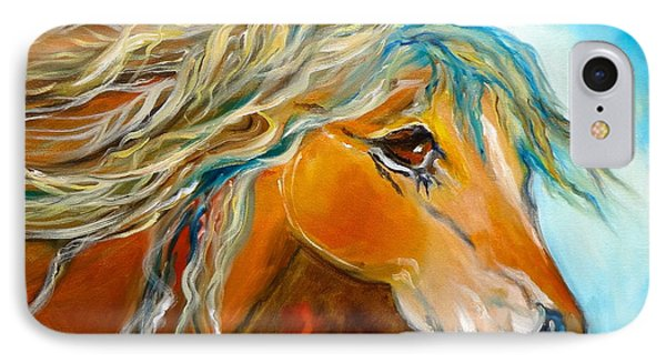 IPhone Case featuring the painting Golden Horse by Jenny Lee