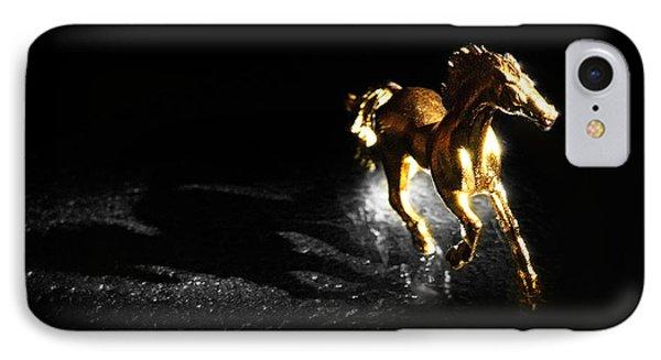 Golden Horse Phone Case by William Voon