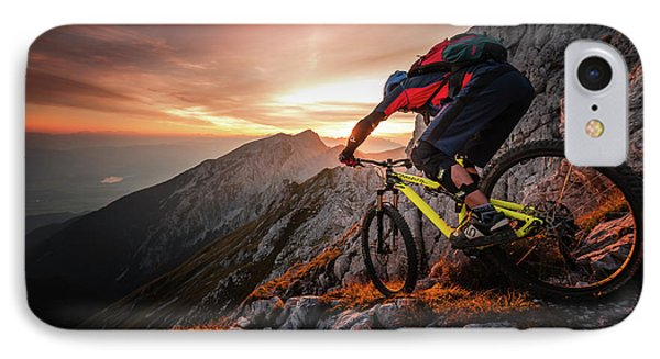 Golden Hour High Alpine Ride IPhone Case