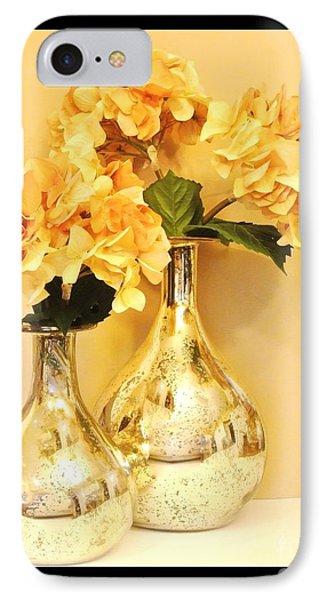 Golden Hydrangia IPhone Case by Marsha Heiken