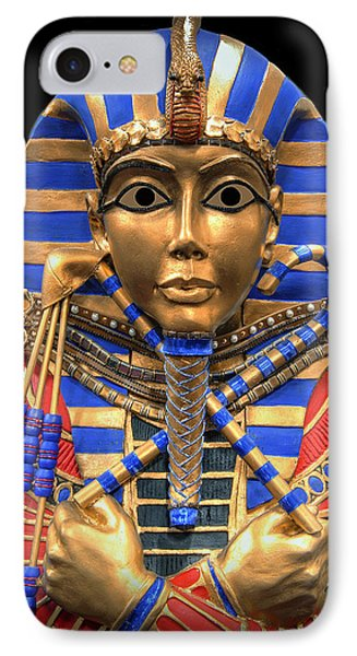 Golden Inner Sarcophagus Of A Pharaoh IPhone Case by Daniel Hagerman
