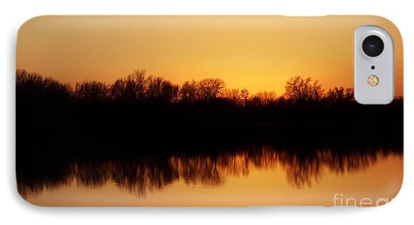 Golden Lake Reflections Phone Case by R McLellan