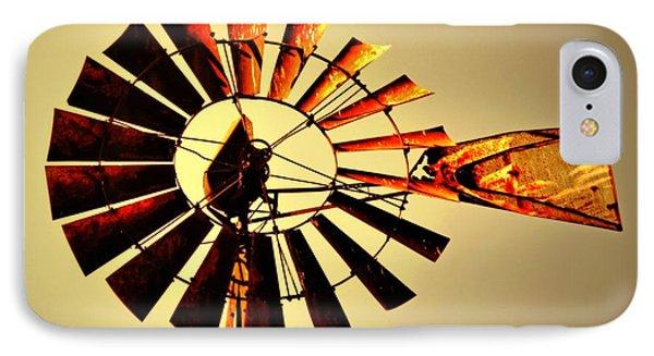 Golden Light Windmill Phone Case by Marty Koch
