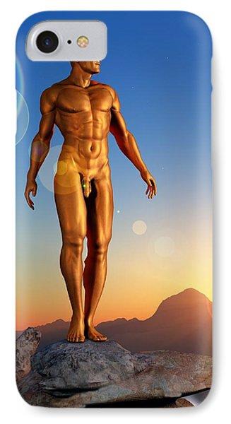 IPhone Case featuring the digital art Golden Man by Kaylee Mason