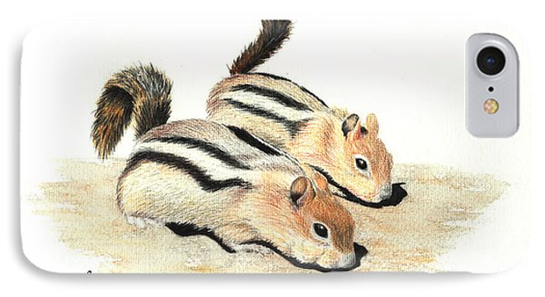 Golden-mantled Ground Squirrels Phone Case by Lynn Quinn