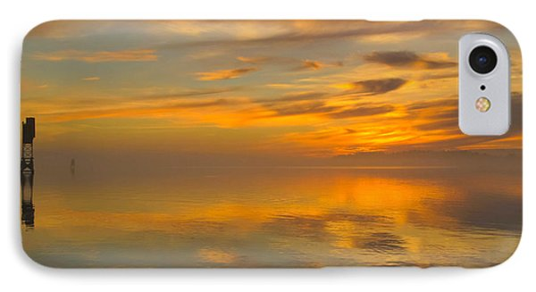 IPhone Case featuring the photograph Golden Marble Sky by Suzy Piatt