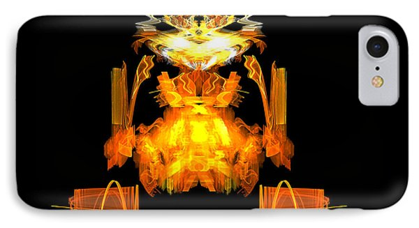 IPhone Case featuring the digital art Golden Monkey by R Thomas Brass
