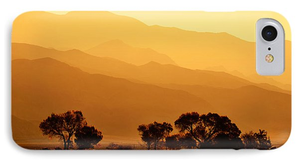 Golden Mountain Light IPhone Case by David Lawson