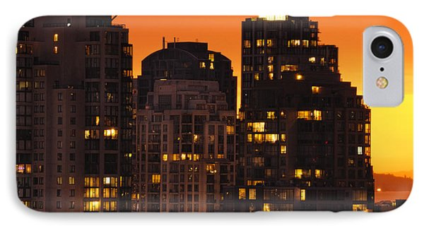 IPhone Case featuring the photograph Golden Orange Cityscape Dccc by Amyn Nasser