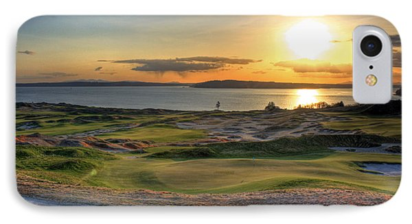 IPhone Case featuring the photograph Golden Orb - Chambers Bay Golf Course by Chris Anderson
