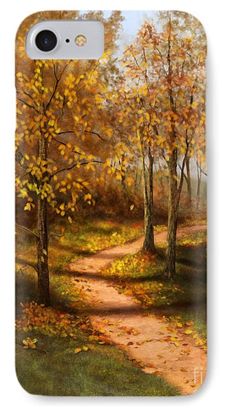 IPhone Case featuring the painting Golden Path  by Sena Wilson