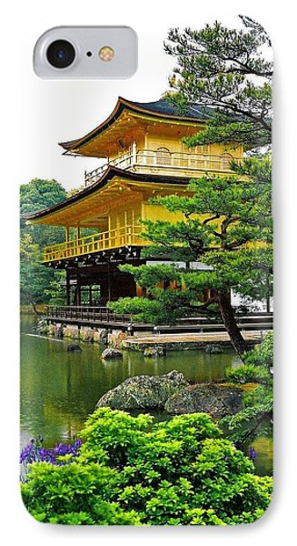 Golden Pavilion - Kyoto Phone Case by Juergen Weiss
